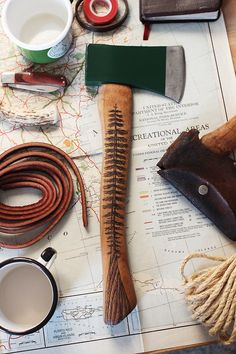 """Stand Tall"" hatchet."