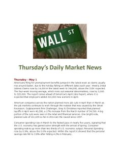 5-1-14 Thursday Daily Market News www.equitysourcemortgage.com