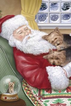 "Outstanding ""Yorkshire terriers"" information is offered on our internet site. Christmas Animals, Christmas Scenes, Christmas Art, Yorkies, Pitbull Puppies For Sale, Poodle Puppies, Yorkie Puppy, Husky Puppy, Silky Terrier"