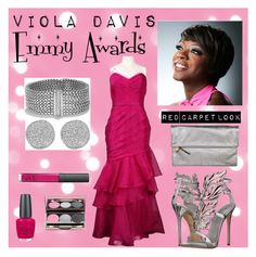 Emmy Awards 2015 by valerre211 on Polyvore featuring polyvore, fashion, style, Theia, Giuseppe Zanotti, Clare V., David Yurman, Karen Kane, NARS Cosmetics and OPI