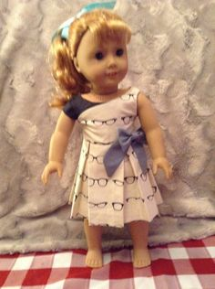black and cream pleated dress american girl doll, maplelea girl, our generation, journey girl by LittleFancyPantsClos on Etsy