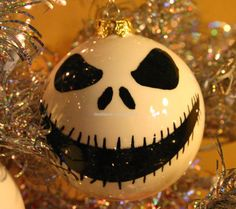 Ceramic Christmas Halloween Ornament Jack by ShellHawksCreations, $19.99