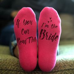 bridal wedding frilly socks customised personalised i do