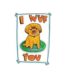 Felt Tip Fun Card  I Wuf You by ableandgame on Etsy, $4.00 #valentinesday
