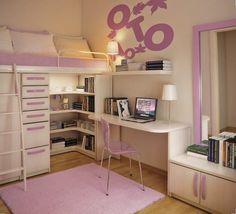 kleines-kinderzimmer-einrichten-ideen-maedchen-weisse-moebel ... - Ideen Kleines Kinderzimmer