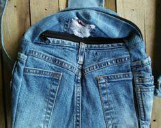 Denim backpack /Jeans backpack / Ladies backpack / Women's denim backpack handmade / Denim Backpack Upcycled