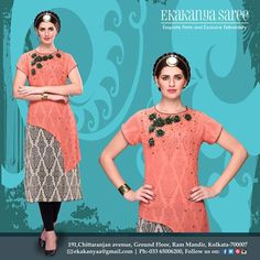 Passion for fashion. .#EthnicWear #Saree #Tunics #Suits #Gowns #DesignerLook #Elegance #EkakanyaSarees
