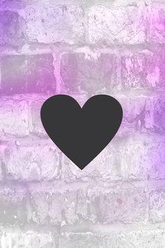 Purple black heart iPhone wallpaper