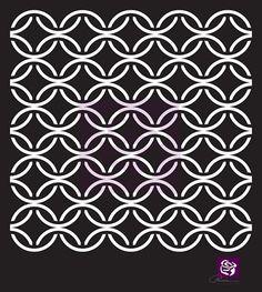 Prima - 6x6 Stencil - Circular Lattice $5