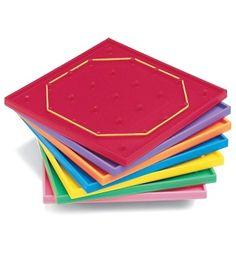 5 x 5 Pin Geoboards Manipulative - Carson Dellosa Publishing Education Supplies. Great for preschoolers too!