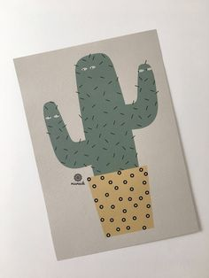 Ein persönlicher Favorit aus meinem Etsy-Shop https://www.etsy.com/de/listing/544772726/kaktus-illustration-print-pflanze
