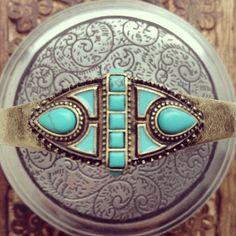 SAMANTHA WILLS - Tomorrow's Adventure Bangle; Bohemian Luxe Turquoise Jewellery Jewelry Boho