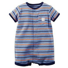 Carters SnapUp Striped Cotton Romper  18 Months *** Find out more about the great product at the image link.