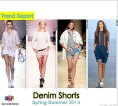 Denim Shorts #Fashion Trend for Spring Summer 2014 #spring2014 #denim #jeans #trends