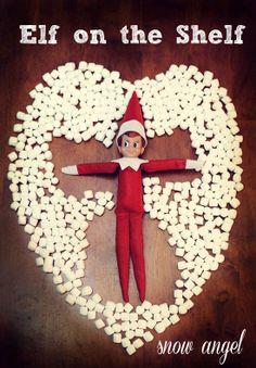 elf on the shelf Ideen - Schneeengel mit Marshmallows - Queen Bee Coupons & Savi . Noel Christmas, All Things Christmas, Christmas Holidays, Christmas Crafts, Christmas Ideas, Christmas Turkey, Toddler Christmas, Elf On The Self, The Elf