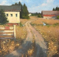 "Romona Youngquist, ""Farm Entrance"" 30x30"