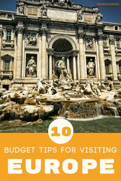 Travel destinations in Europe are known for being expensive, but they don' Here are 10 budget travel tips that will help make your trip to Europe more affordable. Backpacking Europe, Europe Travel Guide, Budget Travel, Travel Guides, Europe Packing, Cheap Travel, Travel Hacks, Europe Destinations, European Vacation