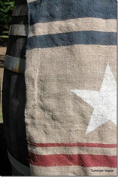 how to diy pottery barn s 4th of july burlap flag, crafts, patriotic decor ideas, seasonal holiday d cor