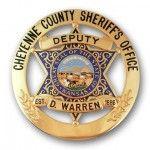 6 Star Circle Cheyenne County Sheriff's Badge