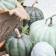 Herfst en Halloween decoratie met geschilderde pompoenen - StijlvolStyling.com Woonblog (beeld: andersonandgrant)