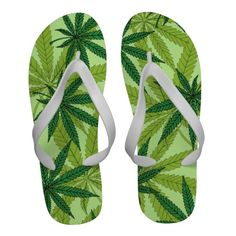 Marijuana Leaves Flip-Flops - $39.95 - Marijuana Leaves Flip-Flops - by RGebbiePhoto @ zazzle - Nine point Marijuana leaves. Cannabis is recognized legally in several US states, mostly for medical purposes, but some are recognizing recreational use as well. Pot smokers and medical patients will enjoy these products!