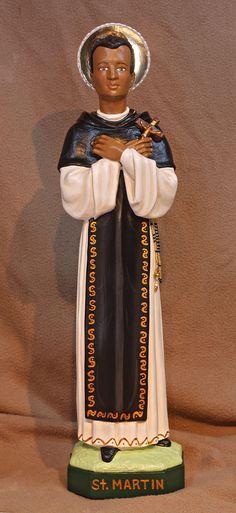 "St. Martin De Porres 18"" Catholic Christian Religious Plaster Saints Statue"