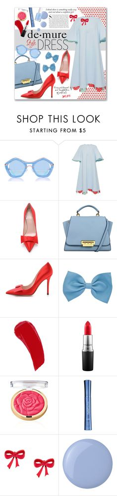 """Demure Syle"" by clovers-mind on Polyvore featuring Vika Gazinskaya, Kate Spade, By Terry, MAC Cosmetics, Kershaw, HydroPeptide, Essie, holidaystyle and oversizeddress"