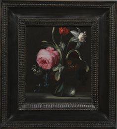 Simon Verelst  (Dutch, 1644-1721)  Flowers in a Vase c. 1669 oil on wood