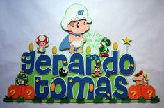 Banner (letrero) en foami, Mario Bross bebe...=) Baby Shower, Frozen, Smurfs, Names, Crafts, Fictional Characters, Super Mario, Friends, Youtube