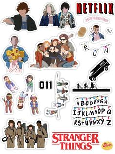 Stranger Things Tumblr, Stranger Things Aesthetic, Eleven Stranger Things, Stranger Things Netflix, Stranger Things Stuff, Tumblr Stickers, Cool Stickers, Printable Stickers, Laptop Stickers