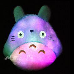 Nueva Totoro Led luminoso almohada de felpa juguete encantador Totoro regalo de boda navidad regalo de cumpleaños regalo