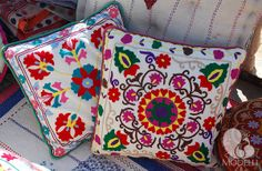 Decorative suzani pillows
