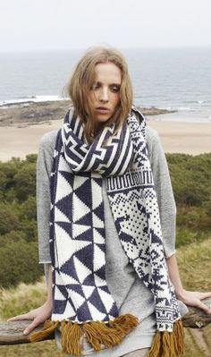 large geometric scarf