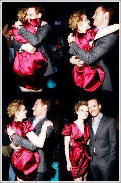 Mia Wasikowska & Michael Fassbender. Well that is one of the most adorable things I have seen in ages.