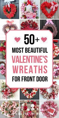 The best, easy Valentines day decorations for home - Valentines day decorations wreaths! To beautiful your home, have a look at the best Valentines decor ideas with red valentines wreaths for front door, pink valentines day wreaths for front doors, valentines day wreath ideas, valentines day wreaths DIY and heart shaped wreaths. These romantic Valentines day decorations will melt anyone's heart! #valentinesdaywreaths #wreaths #valentinesdaydecorations #valentinesdecor #valentinesday #valentines Easy Valentine Crafts, Valentine Day Wreaths, Valentines Day Decorations, Valentine Gifts, Valentines Food, Valentine Ideas, Wreaths For Front Door, Front Doors, Door Wreath