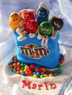 M&M's Cake Gorgeous Cakes, Pretty Cakes, Cute Cakes, Amazing Cakes, M&ms Cake, Eat Cake, Cupcake Cakes, M And S Cakes, Anti Gravity Cake