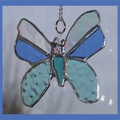 Butterfly Stained Glass Suncatcher -