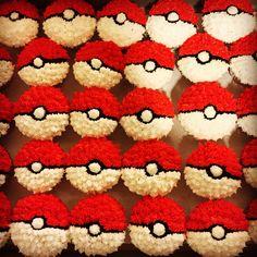 Pokeball cupcakes!