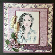 Mellems hobbyblogg Stamps, Girly, Female, Digital, Cards, Home Decor, Seals, Women's, Decoration Home