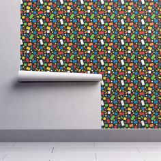 Isobar Durable Wallpaper featuring Building Brick Scatter by designedbygeeks