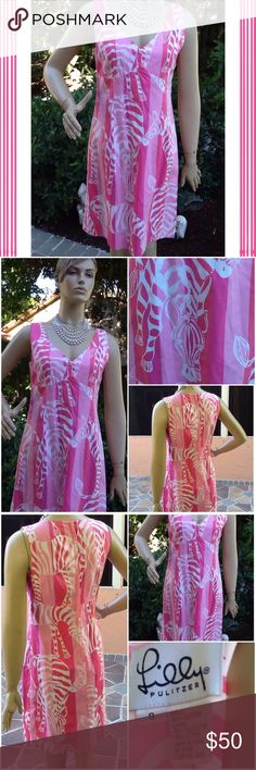 Lilly Pulitzer Zebra dress Lilly Pulitzer zebra print shift dress; lined and zips in the back; excellent condition; no rips or stains; worn 1x; Lilly Pulitzer Dresses Midi