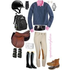 """Pink and Blue"" by adastaley on Polyvore"