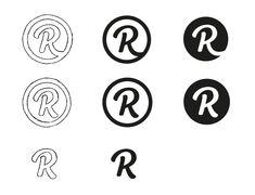 Revue Custom Logotype Process by Paul von Excite