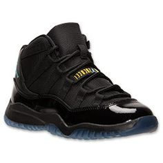 Boys' Preschool Air Jordan Retro 11 Basketball Shoes | FinishLine.com |  Black/