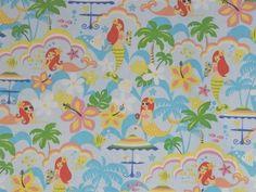 CAC0015- 100% Cotton Fabric: All-Over Hawaiian Print Fabric