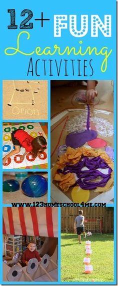 12+ Fun Learning Activities for Kids #homeschool #preschool