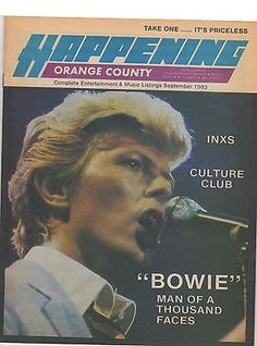 Happening Magazine - Cover: David Bowie - September 1983 - INXS - Culture Club