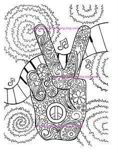 Free Peace Sign Coloring Pages