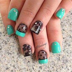 lace nail art - 45+ Lace Nail Designs   Art and Design