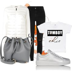 My personal autumn outfit by simplej on Polyvore featuring Moncler, River Island, Prada Sport and Coccinelle